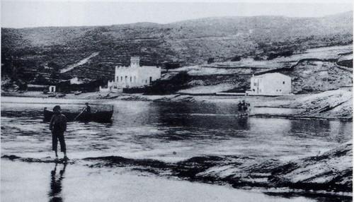 Imagen de la playa de es Llaner Gran a principios del siglo XX