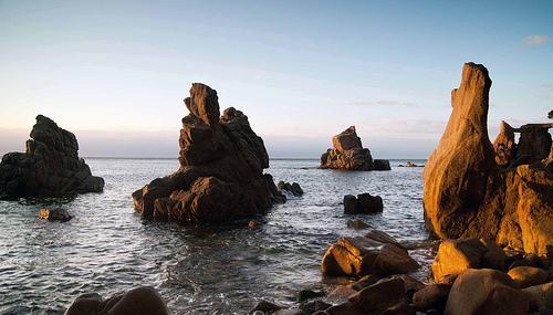 Cala dels Frares, en Lloret de Mar, al alba