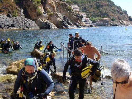 La Cala del Morro del Vedell, en Palamós, es una de las más frecuentadas por los submarinistas