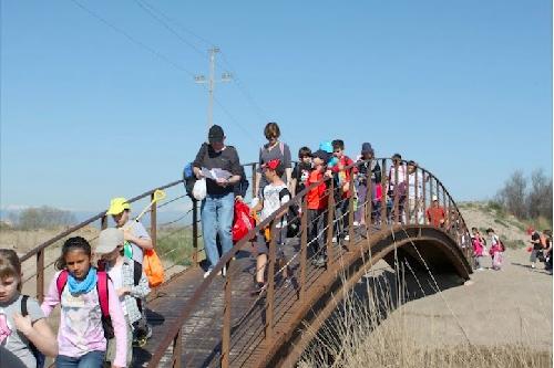 El puente sobre el Riuet se encuentra a pocos metros de la playa donde desemboca el propio río