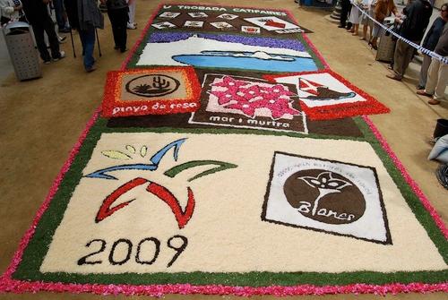 En este tapiz del 2009 apreciamos claramente la referencia a los dos jardines botánicos de Blanes: el Pinya de Rosa y el Marimurtra