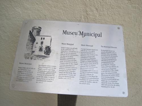 El Museo de Tossa de Mar muestra en paneles informativos el contexto histórico en el que se enmarcan las obras que se muestran