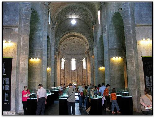 Nave central del monasterio de Sant Pere Galligants, en Girona