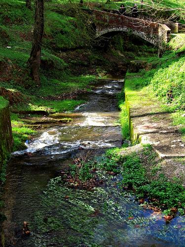 El río Galligants nace y atraviesa el Valle de Sant Daniel. Y es que el valle es un paraje rico en fuentes y puentes históricos