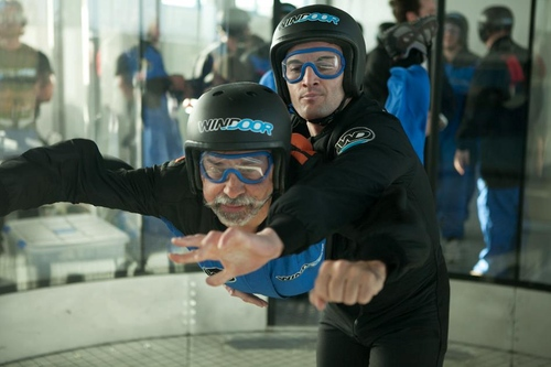 Los first-flyers que viven su primera experiencia en el Túnel del Viento se encuentran acompañados de un instructor