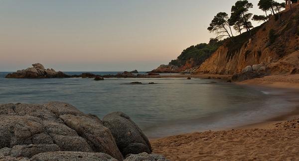 Atardecer en la Cala d'en Remendon, Palamós, Costa Brava