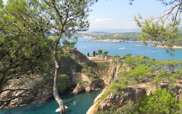 Cala Sa Corbatera, cerca de la playa Es Castell, Palamós, Girona, Costa Brava