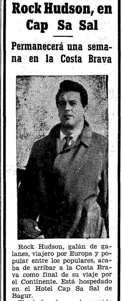 En junio de 1966, en la época dorada de Cap Sa Sal, se alojaba el actor americano Rock Hudson (1925-1985) durante una semana