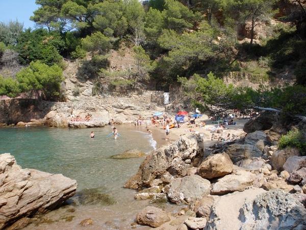 Cala Port des Pi, Sa Riera, Begur, Girona, Costa Brava, Espagne