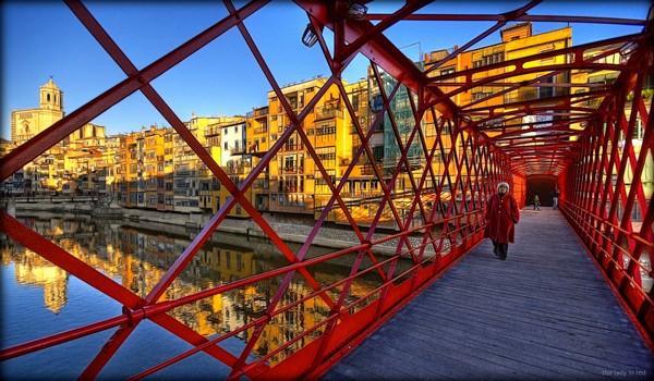 Puente de les Peixateries Velles, Girona, Costa Brava