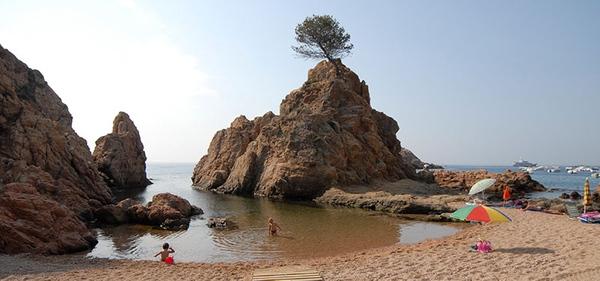 Platja Banyera de Ses Dones, Tossa de Mar, Girona, Costa Brava