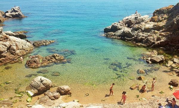 Cala Morisca, en Lloret de Mar, Girona, Costa Brava