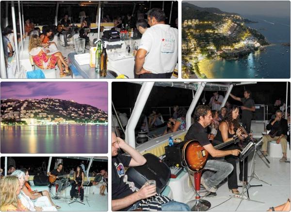 El paseo en catamarán con banda de música y copa de champán, con salida desde el puerto de Roses, ha sido una de las propuestas más originales del Festival Sons del Món hacia sus participantes
