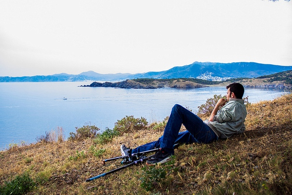 Vistas del Cap Ras des del norte de la bahía de Garbet, entre los pueblos de Colera y Llançà, en la Costa Brava norte