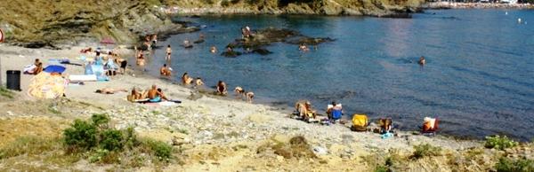 En verano la Playa Sant Jordi, en Llançà, tiene una ocupación media. Son bañistas, fundamentalmente, de los apartamentos y casas que se encuentran a pocos metros de ella