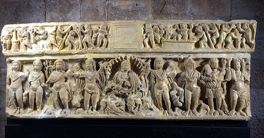 Una de las piezas más valiosas del Museo Arqueológico de Girona es el Sepulcro de las Estaciones, obra romana del siglo IV d.C.
