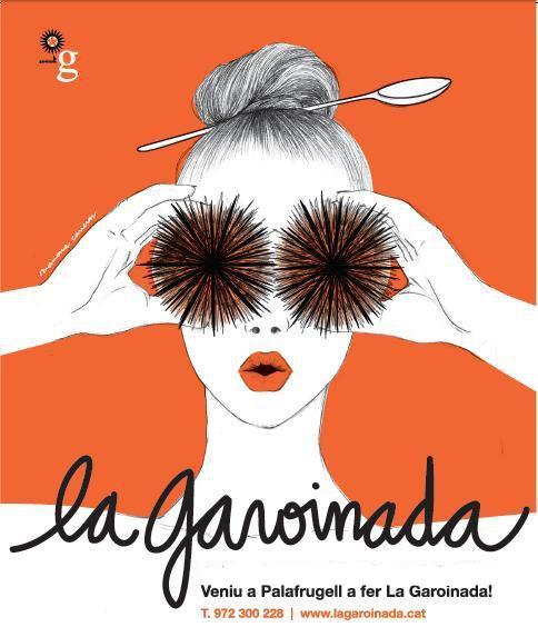 Poster de las Jornadas Gastronómicas de la Garoinada, que tiene lugar en Palafrugell entre los meses de enero a marzo, Costa Brava