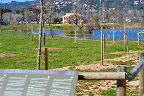 El Parque dels Estanys, en Platja d'Aro, ha sido concebido como un espacio de relajamiento, aunque también como un centro pedagógico para el conocimiento de la naturaleza, y por este motivo encontramos muchos paneles informativos