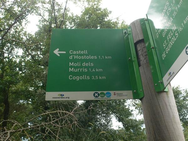 Los alrededores del Gorg del Molí dels Murris, en el pueblo de Les Planes d'Hostoles, se encuentra atravesado por pistas forestales que se encuentran bien señalizadas