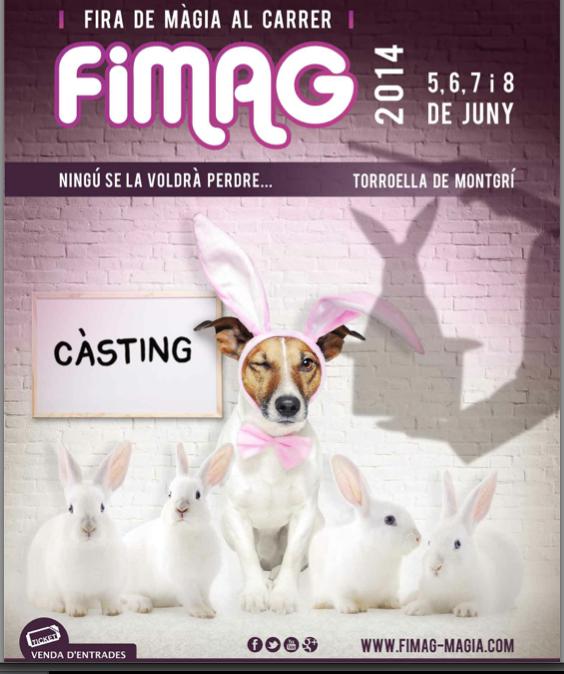 El cartel más simpático de la FIMAG, la Feria de Magia que se celebra anualmente a principios de junio en Torroella de Montgrí