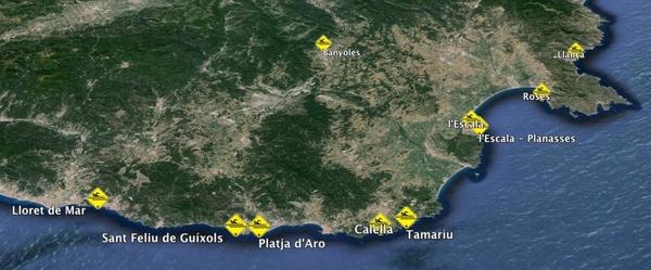 Por el momento estos son los itinerarios disponibles de Vias Bravas para el verano 2014
