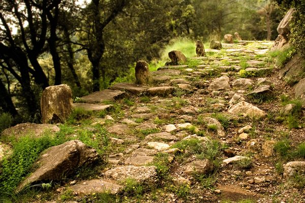 La Vía Romana de Capsacosta es un verdadero monumento arqueológico urbanístico que muestra todavía elementos originales de esta infraestructura viaria creada por los romanos al inicio de la romanización de la península