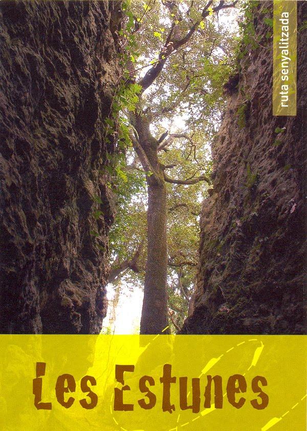 El Bosque de les Estunes se encuentra formado por cuevas de piedra travertina que conforman un paisaje misterioso muy especial